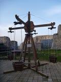 Scherzt Spielplatz am mittelalterlichen Schloss in Celje Stockfotografie