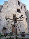 Scherzt Spielplatz am mittelalterlichen Schloss in Celje Lizenzfreies Stockfoto