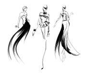 schets De meisjes van de manier Royalty-vrije Stock Afbeelding