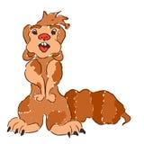 Schets die dierlijke gopher grappige eenvoudig trekken royalty-vrije stock foto's