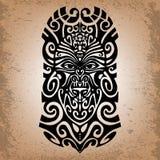 Schets, Godsdienstig masker, magisch symbool, tatoegering Royalty-vrije Stock Afbeeldingen
