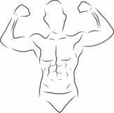 Schets Knappe gymnastiek Royalty-vrije Stock Afbeelding