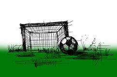 Schets op een voetbal Royalty-vrije Stock Fotografie