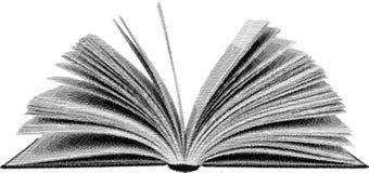 Schets open boek royalty-vrije stock afbeelding