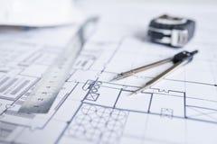 Schets van bouw stock afbeelding