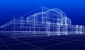 Schets van de bureaubouw vector illustratie