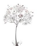 Schets van een bloemenboom Royalty-vrije Stock Foto