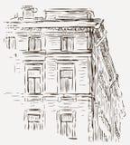 Schets van een huis Royalty-vrije Stock Afbeeldingen