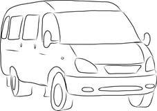 Schets van een minibus Royalty-vrije Stock Foto's