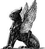 Schets van een mythologische griffioen stock illustratie