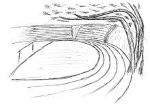 Schets van een stadion royalty-vrije stock afbeeldingen