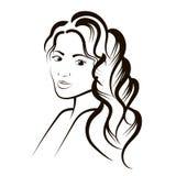 Schets van een vrouwen` s portret vector illustratie