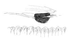 Schets van een Zon stock afbeelding
