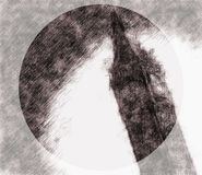 Schets van Groot Ben Clock Tower vector illustratie