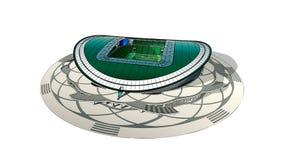 Schets van het belangrijkste stadion in Kazan Stock Afbeelding