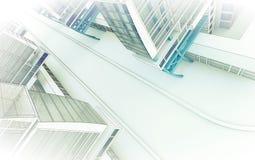 Schets van het commerciële centrum. stock afbeeldingen