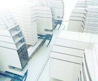 Schets van het commerciële centrum. Vector Illustratie