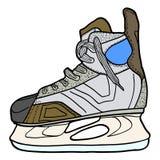 Schets van hockeyvleten Vleten om hockey op ijs, vectorillustratie te spelen Stock Afbeelding