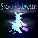 Schets van neonheks Halloween Stock Foto's