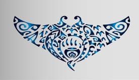 Schets van tatoegeringenpolynesia pijlstaartrog Royalty-vrije Stock Fotografie