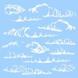 Schets van wolken vector illustratie