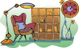 Schets van woonkamer Stock Afbeelding