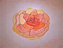 Schets voor een kobold, een tapijtwerk, en een handwerk, deel 2 Met de hand gemaakte tekening Royalty-vrije Stock Foto