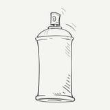 Schetsaërosol stock illustratie