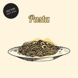 Schetsen van Italiaanse keuken Stock Afbeeldingen