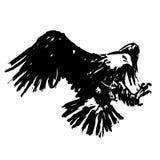 Schetsillustratie uit de vrije hand van adelaar, haviksvogel Stock Afbeeldingen
