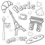 Schetsmatig Parijs Royalty-vrije Stock Foto's
