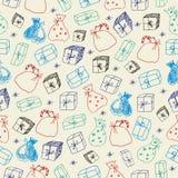 Schetsmatige giften Naadloos patroon Royalty-vrije Stock Afbeelding