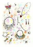 Schetsmatige Juwelen Royalty-vrije Stock Foto