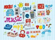 Schetsmatige muziek Royalty-vrije Stock Afbeeldingen