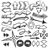 Schetsmatige pijlen op witte achtergrond Royalty-vrije Stock Fotografie
