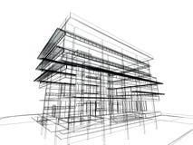 Schetsontwerp van de bouw stock illustratie