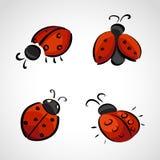 Schetspictogrammen - lieveheersbeestje Stock Fotografie