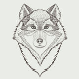 Schetsportret van Wolf Royalty-vrije Stock Afbeelding