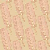 Schetsveer, uitstekend naadloos patroon Stock Foto