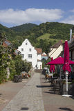 Scheuergasse en Zwingenberg imágenes de archivo libres de regalías