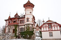 Scheuermann`s Villa or Little Castle, Herrsching am Ammersee. Fuenseenland region, Upper Bavaria, Bavaria, Germany stock image