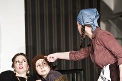 Scheuert Theaterspiel an UNATC, Bucharest Stockfotografie