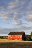 Scheune bei Frosta, Norwegen lizenzfreies stockbild