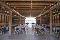 Scheune gegründet für Hochzeitsempfang Stockfotografie