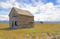 Scheune/Kabine auf amerikanischem Ackerland Stockbilder