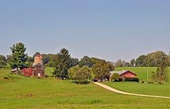 Scheune nahe Madison, Wisconsin Lizenzfreie Stockbilder