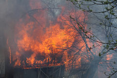 Scheunen-Feuer Stockfotografie