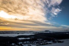 Scheur berg in Tsjechische Republiek royalty-vrije stock fotografie