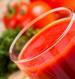 Scheur de Verfrissingen van Tomatenjuice represents refreshment refreshing and royalty-vrije stock foto