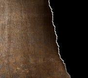 Scheur grunge metaalachtergrond met gescheurde randen stock foto